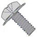 Phillips Pan Square Cone Sems Fully Threaded Zinc