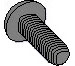 Phillips Pan Taptite Thread Rolling Screw Fully Threaded Black Oxide And Wax