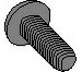 Phillips Pan Taptite Thread Rolling Screw Fully Threaded Black Zinc Bake Wax
