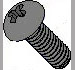 Phillips Round Machine Screw Fully Threaded Black Zinc