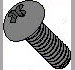 Phillips Round Machine Screw Fully Threaded Zinc