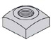 Regular Square Nut Zinc