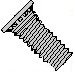 Self Clinching Stud 12 Rib 300 Series Hardened Stainless Steel