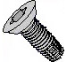 Six Lobe Flat Undercut Thread Cutting Screw Type F Fully Threaded Zinc And Bake