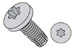 Six Lobe Pan Thread Cutting Screw Type F Fully Threaded Zinc And Bake