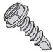 Slot Ind Hexwash Serrated Self Drill Screw Number 2 Point Full Thread Zinc Bake