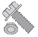 Slotted Indented Hex Washer Head Serrated Machine Screw Fully Threaded Zinc