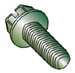 Slotted Indented Hex Washer Thread Rolling Screw Fully Thrded Zinc Green BakeWax