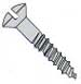 Slotted Flat Full Body Wood Screw Zinc