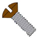 Slotted Oval Machine Screw Fully Threaded Zinc with Brown Painted Head