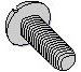 Slotted Pan Taptite Thread Rolling Screw Fully Threaded Zinc Bake and Wax