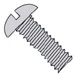 Slotted Round Machine Screw Fully Threaded Zinc