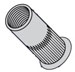 Small Head Ribbed Rivet Nut Zinc Yellow Dichromate