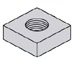 Square Machine Screw Nut Zinc
