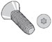 Torx(R) Flat Taptite Thread Rolling Screw Fully Threaded Zinc Bake And Wax