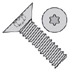 Torx(R) Flat 100 Degree Machine Screw Fully Threaded Zinc