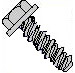 Unslotted Indented Hex Washer High Low Screw Fully Threaded 18 8 Stainless Stee