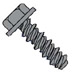 Unslotted Indented Hex Washer High Low Screw Fully Threaded Black Oxide