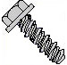 Unslotted Indented Hex Washer High Low Screw Fully Threaded Zinc